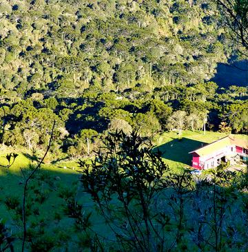 Vista área da pousada - Urubici - Serra Catarinense